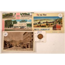 Gem Bar Token and Winnemucca Postcards  [128333]