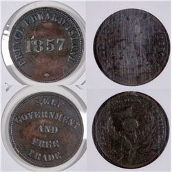 Canadian Tokens: 1857 Prince Edward Island/1820s J.Brown Merchant  [129154]