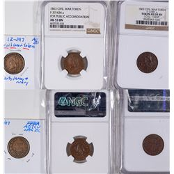 Capped Liberty Civil War Tokens  [129167]