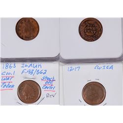 Indian Head Civil War Tokens: Struck Off Center  [129166]