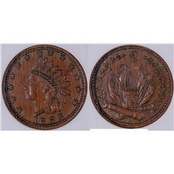 Civil War Tokens: Indian-Crossed Cannons  [129177]