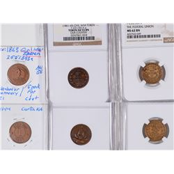 Civil War Tokens: Our Country/Federal Union/Knickerbocker Currency  [129183]