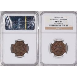 Hard Times Token: Half Cent of Copper  [129222]