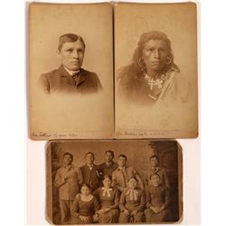 Arapahoe, Navajo: Carlisle Indian School Cabinet Cards, c1885  [131550]