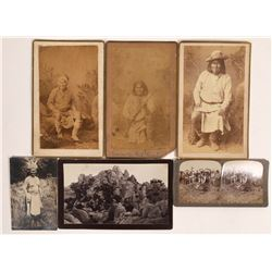 Geronimo Photograph Collection, Cabinet Cards (4), Stereo card, RPC  [131552]
