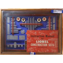 Lionel Construction Kit 111 in Cardboard Box, Exceptional Near Mint, in Custom Wood Case [131780]