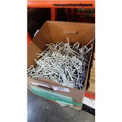 Box of metal hooks