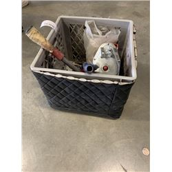CRATE WITH SCISSOR JACK AND SCRAPERS