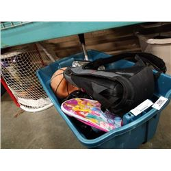 TOTE OF BACKPACK, TITAN COOLER, BASKETBALL AND MORE