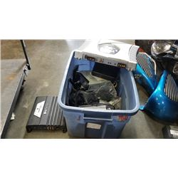 Tote of car audio amps