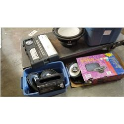 Lot of car audio equipment