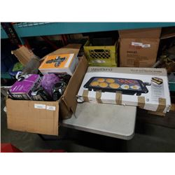 BOX OF KITCHEN APPLIANCES, WEST BEND ELECTRIC GRIDDLE