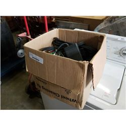 Box of electrical and video game cords