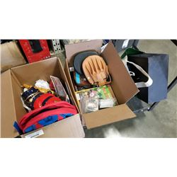 2 boxes of estate goods,  toys and speakers