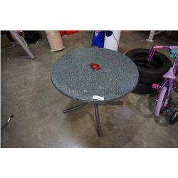 ROUND STONE LOOK TABLE