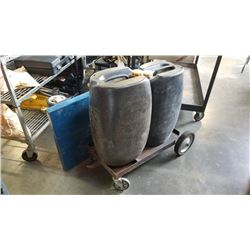 Heavy duty dolly and cart with large jerry cans