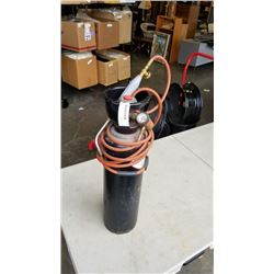 ACETYLENE TANK WITH TORCH AND HOSE