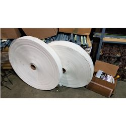 2 LARGE ROLLS OF ABSORBANT TISSUE