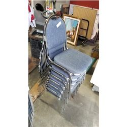 7 stacking chairs