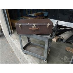 2 tier rolling cart and trunk