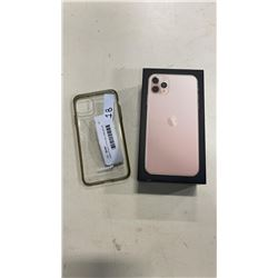 Apple iPhone 11 Pro Max, 64gb gold, with original box and new accessories, clear case, clean imei, b