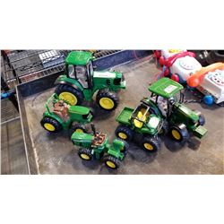 5 John deere collectible tractors
