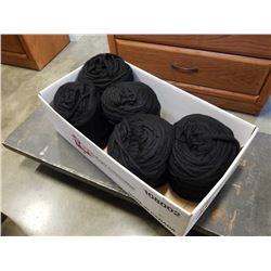 Box of new zealand black wool yarn