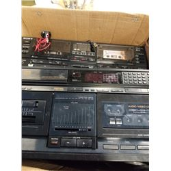 Three Sony stereo components TA-AX550, CDP-205ESD AND TC-WR750