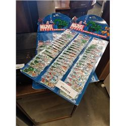 LOT OF MARVEL GLOW IN THE DARK STICKERS