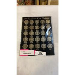1996 NHL HOCKEY GREATS COIN COLLECTION - COMPLETE 25 COINS