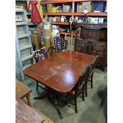 HESPELER FURNITURE DUNCAN PHYFE DINING TABLE WITH 6 CHAIRS