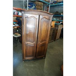 ANTIQUE 75 INCH TALL WARDROBE SINGLE PIECE 22 INCHES DEEP