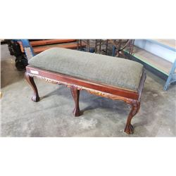 CLAW FOOT BENCH WITH GLASSTOP OPTION