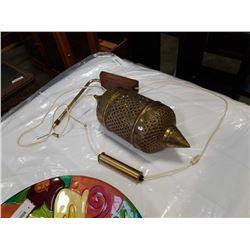 VINTAGE WALL HANGING BRASS LAMP