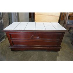 TILE TOP ROLLING TRUNK