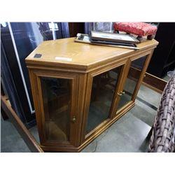 4 door display cabinet with glass shelves