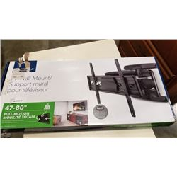 NEW OVERSTOCK 47-80 INCH FULL MOTION TV WALL MOUNT 110LB CAPACITY