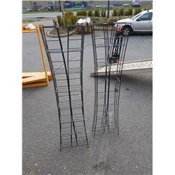Two black 5ft metal racks
