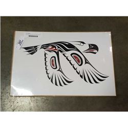 EAGLE IN FLIGHT FIRST NATIONS PRINT BY CARL STROMQUIST