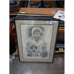 JAMES SHIRLEY LIMITED EDITION PRINT MAN WITH SON 138/150