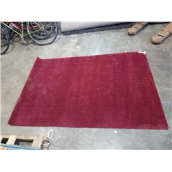 76 INCH RED AREA CARPET
