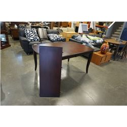 MODERN DARK FINISH DINING TABLE WITH 8 CHAIRS