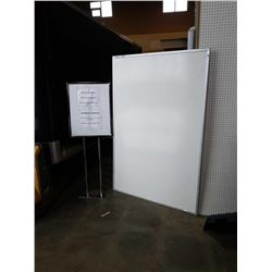 LARGE 6 X 4 FOOT WHITEBOARD AND METAL SIGN BOARD