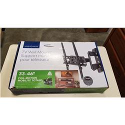NEW OVERSTOCK 33-46 INCH FULL MOTION TV WALL MOUNT 55LB CAPACITY