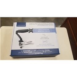 NEW OVERSTOCK INSIGNIA SINGLE MONITOR HYDRAULIC MOUNT UP TO 27 INCH MONITOR LESS THEN 19.8LBS