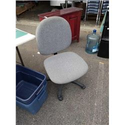Grey gas lift office chair
