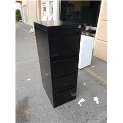 Black 4 drawer filing cabinet with key
