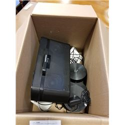 Box of docking station, sirius satellite system and 4K streaming video players