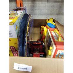 BOX OF KIDS TOYS, DREMEL STAND, HAMILTON BEACH KETTLE