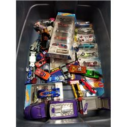 TOTE OF HOTWHEELS AND OTHER COLLECTABLE CARS - MARVEL AND OTHER